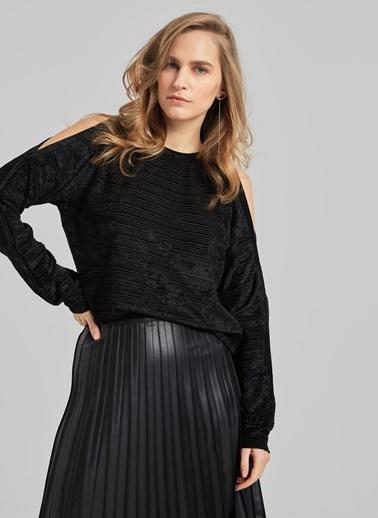 People By Fabrika Kol Detaylı Bluz Siyah
